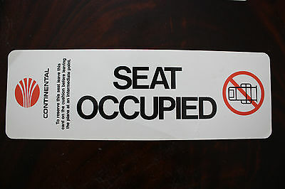 Occupied Sign Continental Airlines