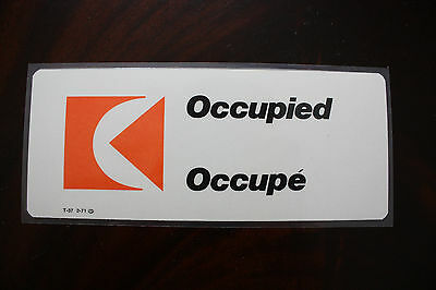 Occupied Occupe Sign Cp Air Canada From 1971