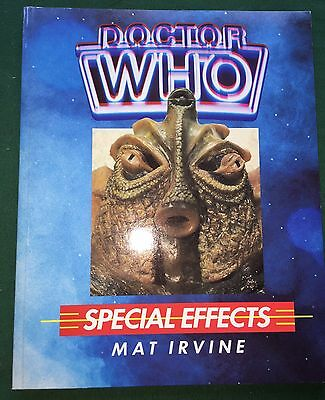 BOOK Doctor Who SPECIAL EFFECTS Mat Irvine 1986 1st Edition Paperback NEW
