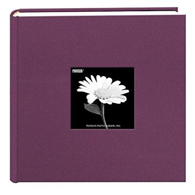 Fabric Frame Cover Photo Album 200 Pockets Hold 4x6 Photos, Wildberry Purple New