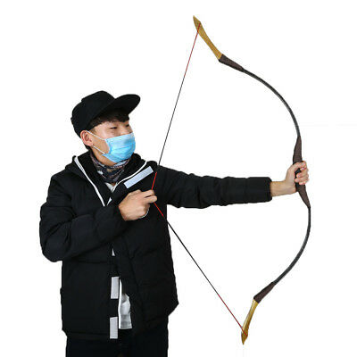 Archery Recurve Bow Traditional Longbow Handmade Horsebow Target Hunting Games