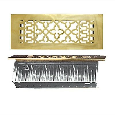 Solid Brass Grates Grilles Registers WITH Dampers Victorian - Choice of Sizes