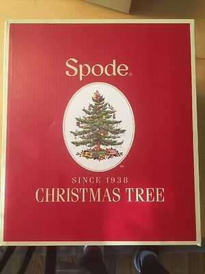 Spode Christmas Tree Glass Pitcher 96 Ounces NIB