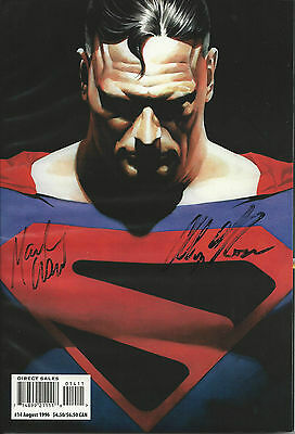 FAN #14 SUPERMAN COVER AUTO by ALEX ROSS TPB OVERSTREET COMIC PRICE GUIDE AUG 96