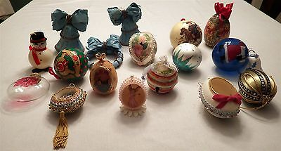 Mixed Lot of 18 Vintage Assorted Christmas Ornaments ~ New & Used!