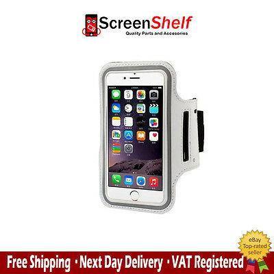 For iPhone 5,5s,5c Sports Running Jogging Gym Armband Waterproof Cover White