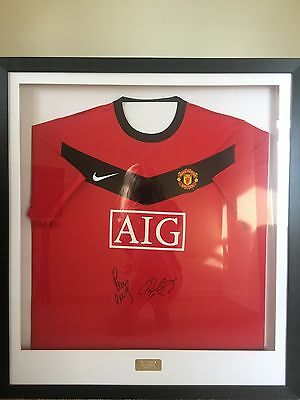Manchester United Signed Football Shirt Paul Scholes Ryan Giggs 100% Genuine