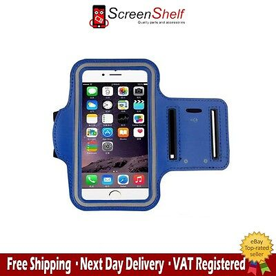 For iPhone 5,5s,5c Sports Running Jogging Gym Armband Waterproof Cover Blue