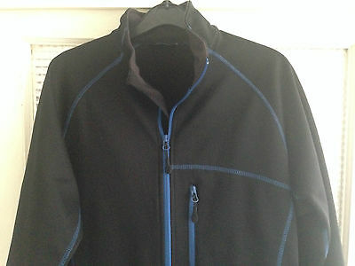 Crane Men's BLACK  Fleece Walking Hiking Jumper Size Medium (M)