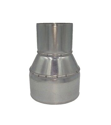 Galvanized Metal Reducer Ducting Pipe Steel Connector Adapter Chimney Flue Liner