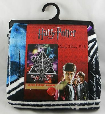 New Harry Potter Cloud Deathly Hallows Tale Of Three Super Plush Throw Blanket