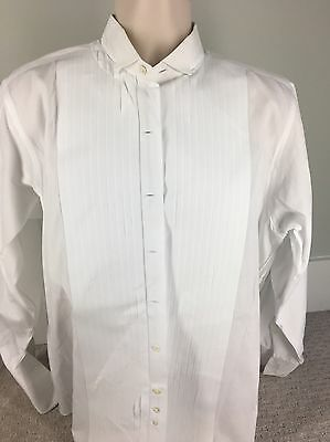 Brooks Brothers Sz 15.5 X 33 White Point Collar French Cuff Formal Tuxedo Shirt