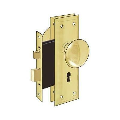 "Ultra Hardware 44609 2-1/4"" Brass Old Time Mortise Interior Door Lock Set New"