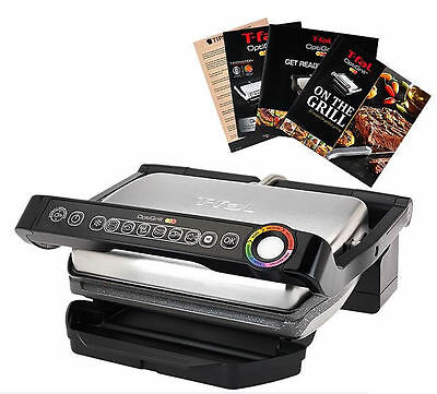 T-Fal GC704 Indoor Opti Grill with Ceramic Plates & Recipe Book
