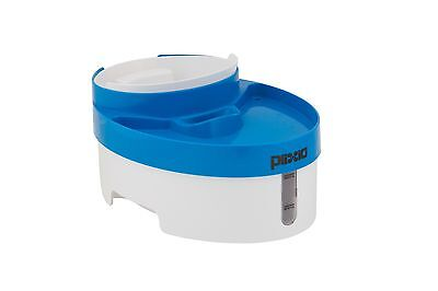 Plixio Pet Fountain Water and Food Bowl Feeder for Dog Cats w/ Water Filter New