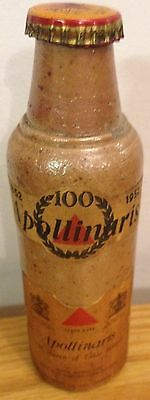 Apollinaris 1852 - 1952 Ultra Rare Antique Bottle. The Queen of Table Waters