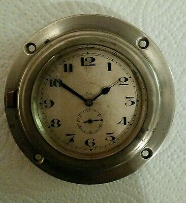 Vintage 8 Day Car Dashboard Clock For Spares