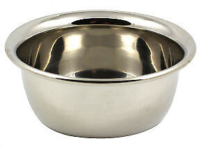 Chrome Shaving Soap Bowl