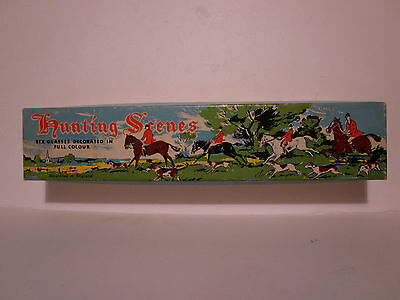 Hunting scenes, drinking glasses, old collectable. boxed.