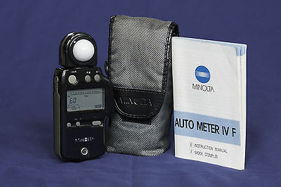 Minolta Auto Meter IV F with case and instructions.