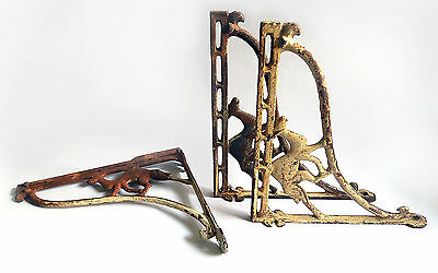 3 Antique Architectural Iron Brackets with Camels.