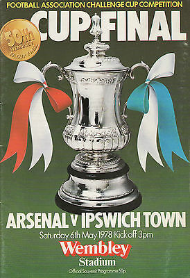 1978 FA Cup Final Arsenal v Ipswich Town Match Programme