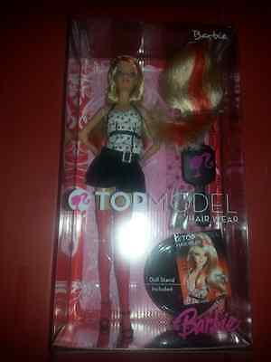 Top Model Hair Wear Barbie-2007-with stand NEW!!!