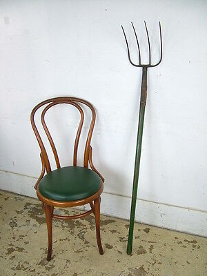 Vintage 4 Point Wrought Iron Farm Tool Rake