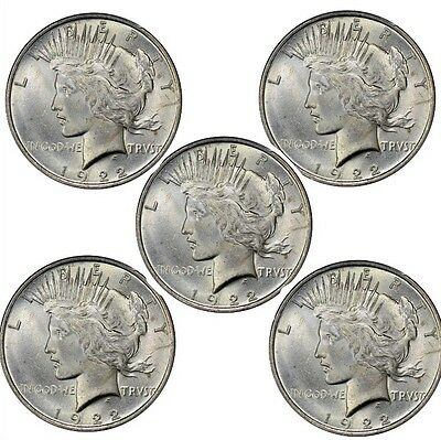 Peace Dollar BU (Random Years) Lot of 5