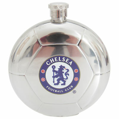 Chelsea FC Official Football Shaped Stainless Steel Hip Flask