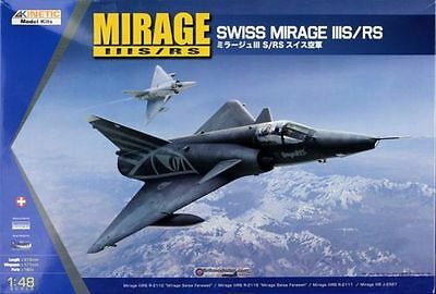 Kinetic 1/48 Modell Bausatz 48058 Dassault Mirage IIIS/RS Swiss