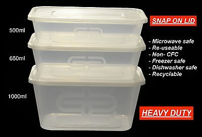 SATCO Plastic Containers Clear Tubs and Lids Takeaway