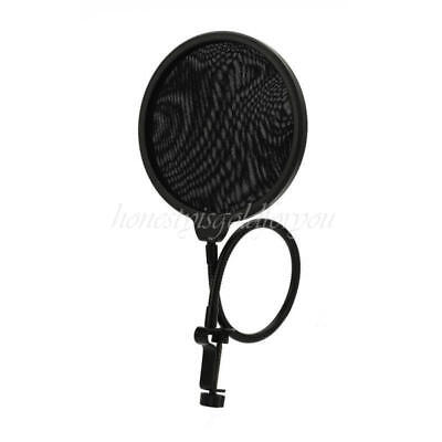 Double Layer Studio Microphone Mic Wind Screen Mask Shield Pop Filter M 2016