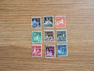 Stamps Czechoslovakia    1966  Castles   Set Of  9  Stamps