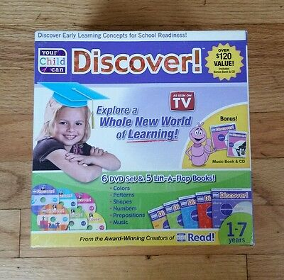 YOUR CHILD CAN DISCOVER Early Learning Concepts for School Readiness Set New