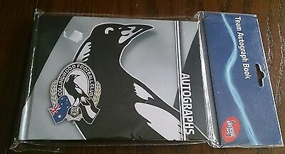 COLLINGWOOD MAGPIES Official AFL Team Autograph Book -NEW