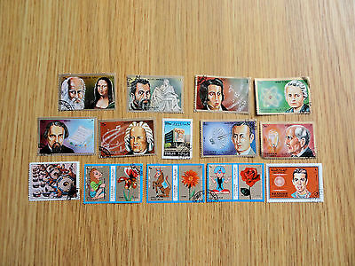 Stamps  Oman Sultanate Of Oman 14 Stamps All Different