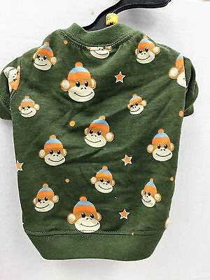 East Side Collection Dog Puppy Green Boy Ty Pet Monkey Business T-Shirt Xs