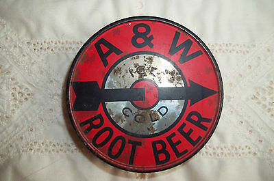 Vintage A & W Root Beer Canning Jar Lid With Arrow