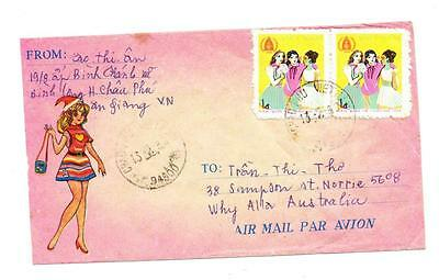 VIETNAM 1d Pair Children of Different Races Embossed Commercial cover SG 279