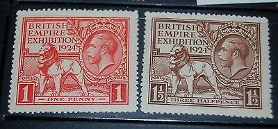 Great Britain  185 - 186  VF  LH  OG
