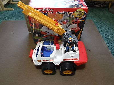Rescue Heroes Quick Response Vehicle  and action figure lot with box