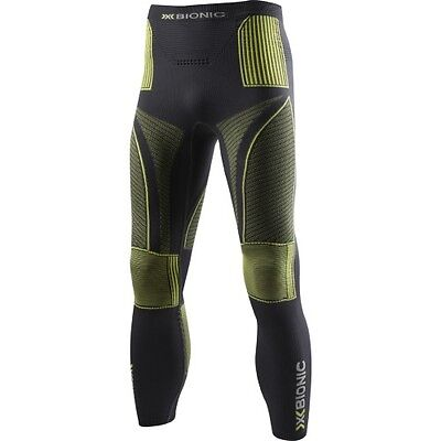 X-bionic Evo Pant Hommes Seconde Peau - Charcoal Yellow Toutes Tailles