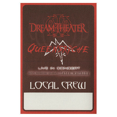 Queensryche authentic Local Crew 2003 tour Backstage Pass