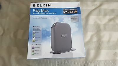 Belkin Play Max Wireless Modem-Router ADSL 2+ Dual Band (brand new)