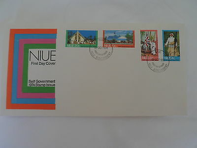 Niue 1974 Fdc Self Government