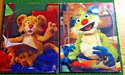 2 Wood Puzzles: Between the Lions + Treelo from Bear in the Big Blue House