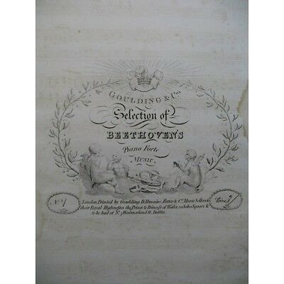 BEETHOVEN See The Conquering Hero Comes Piano ca1810   Partition Sheet Music Spa