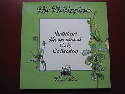 Philippines 1983 BUNC 7 Coin collection Set 1 Centissimo - 2 Piso by Royal Mint