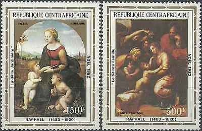 Timbres Religion Noel Centrafrique PA261/2 ** lot 16898